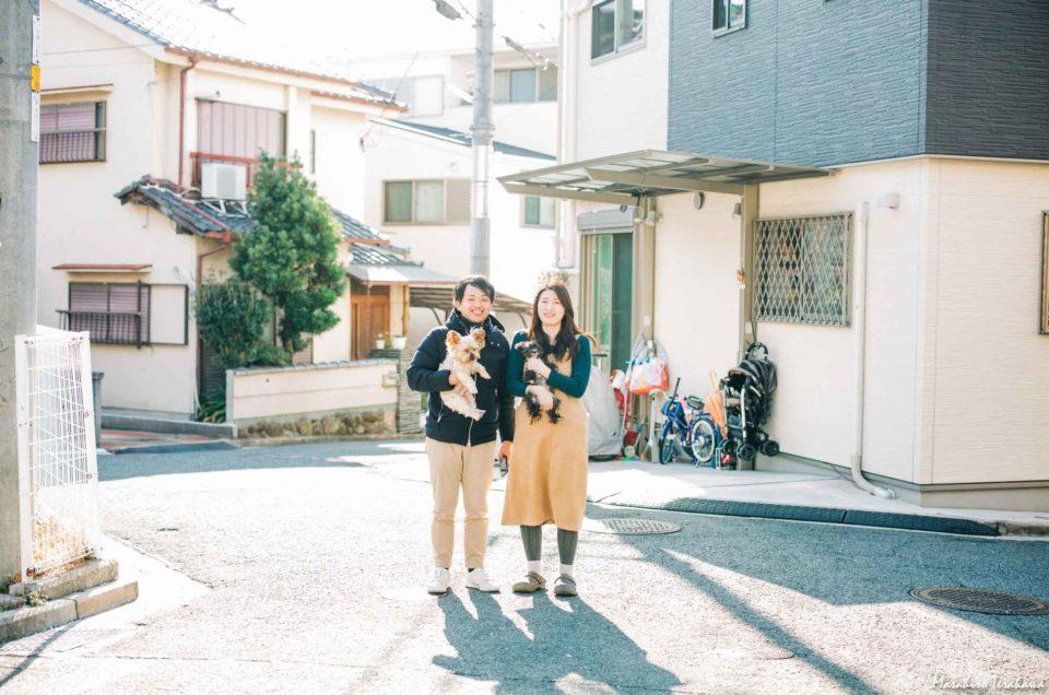 お正月 家族写真カメラマンの家族の写真撮影