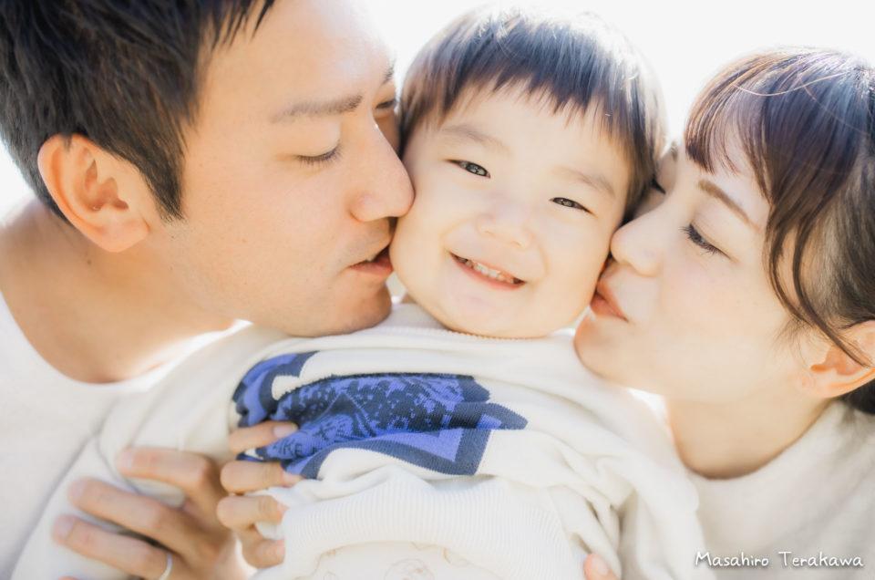大阪 長居公園で家族写真の撮影
