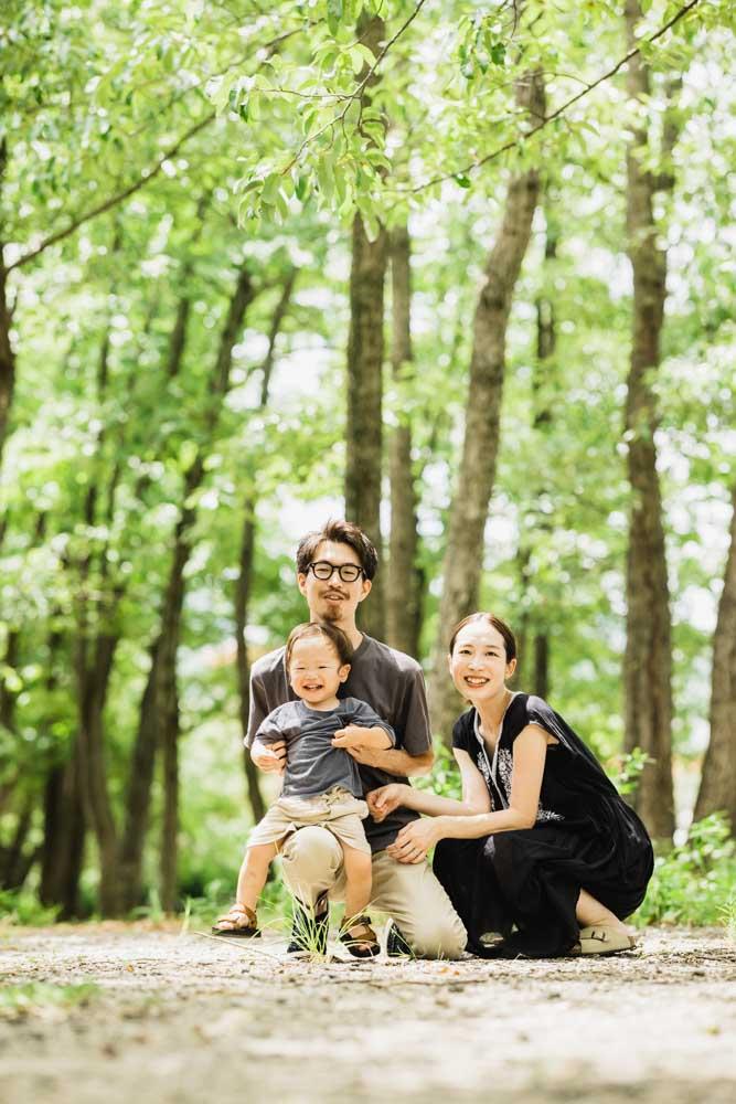 それぞれの家族写真を 個別に撮影対応